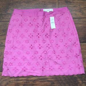 Ann Taylor LOFT Pink Skirt (Size 4)